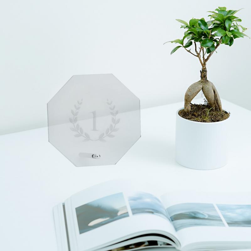 Placa de vidrio octogonal