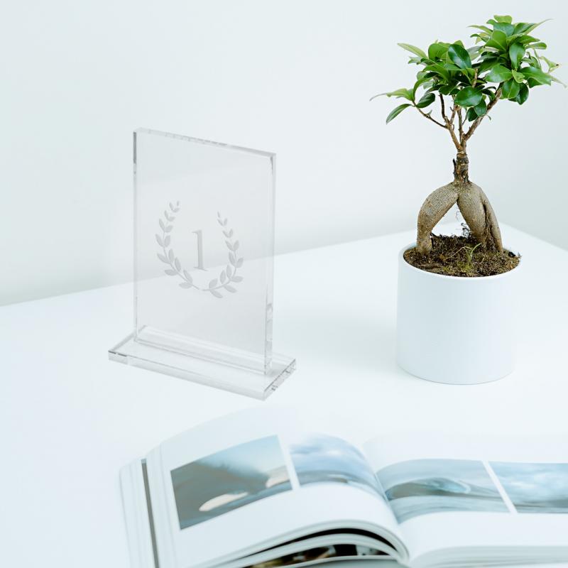 Placa de vidrio rectangular
