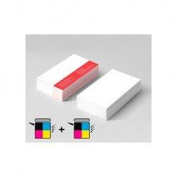 Tarjetas Color Doble Cara