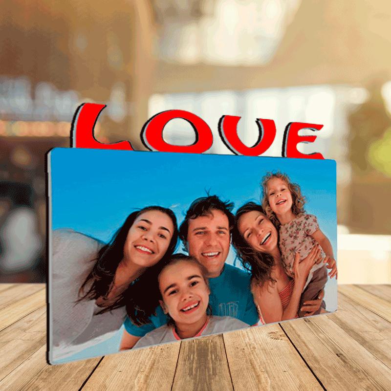 Quadre LOVE 180x150mm Fusta