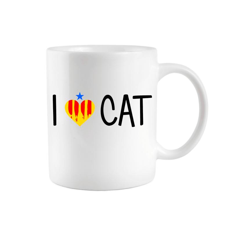 Taza I love CAT